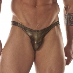 Metalic Gold Printed Fabric Brief