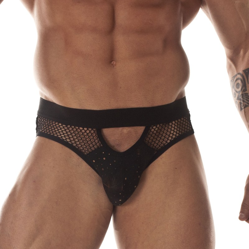 Printed Fabric with Net Brief