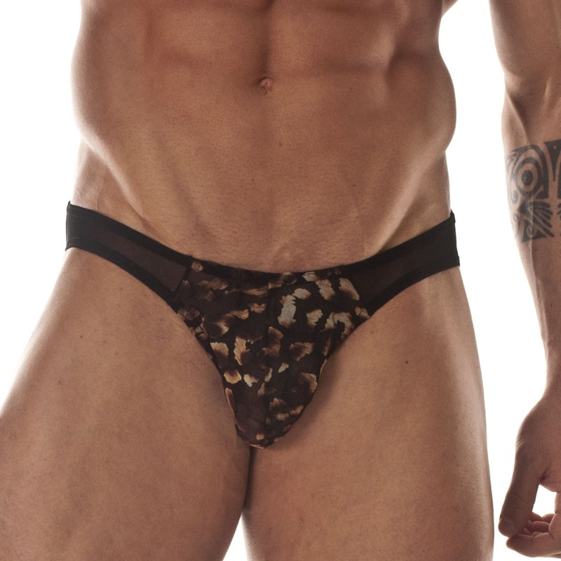 Transparent and Leopard Pouch Brief