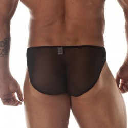 Transparent and Leopard Pouch Brief Back