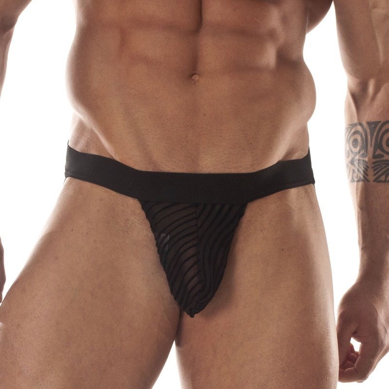 Transparent Printed Fabric Jockstrap