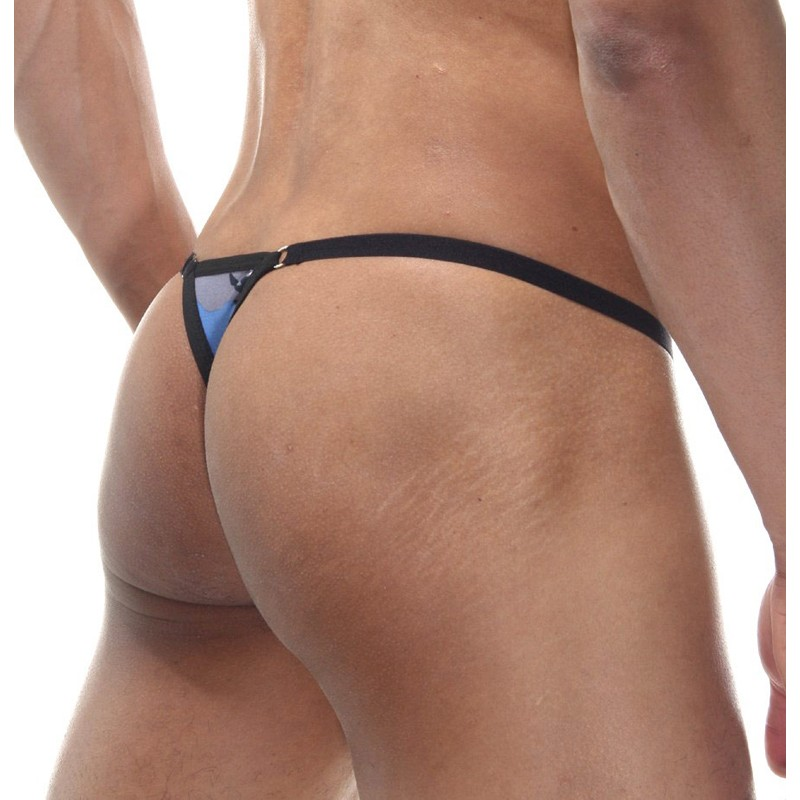 Camouflage Thong With Ring