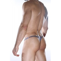 Printed Sheer Thong Underwear