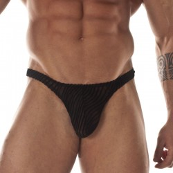 Transparent Printed Fabric Thong For Men