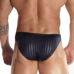 Black Line Printed Dark Blue Brief