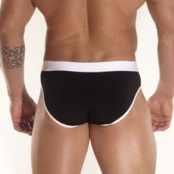 Black White Suspensor Brief