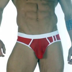 Sheer Red Fabric Brief