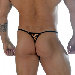 Leopard Fabric With Rings Men's Thong