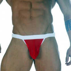 Sheer Red Fabric Men's Jockstrap